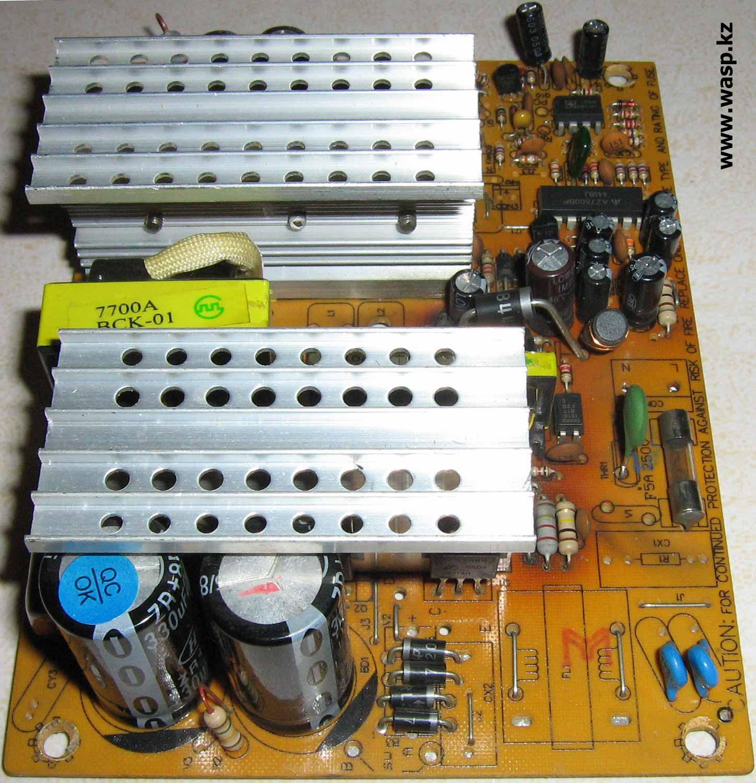 ATX-300W P4 блок питания устройство и детали