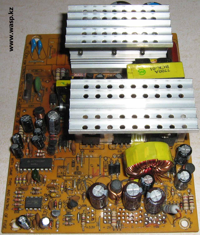 все радиодетали в блоке питания ATX-300W P4