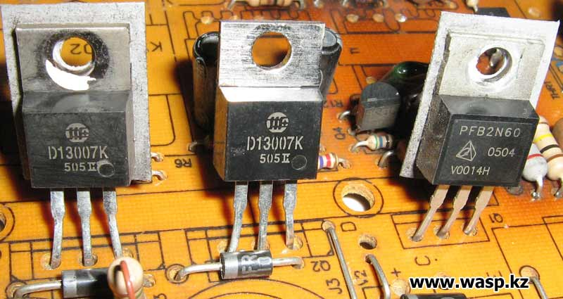 дежурка PFB2N60 транзистор, раскачка D13007K высоковольтные