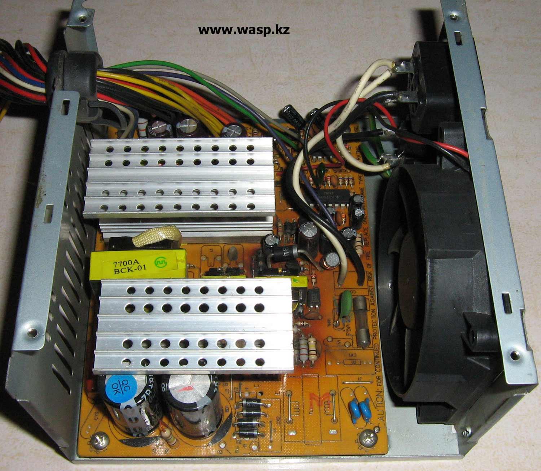 ATX-300W P4 разборка блока питания, трансформаторы 7700-1 HI-POT и 7700-2C