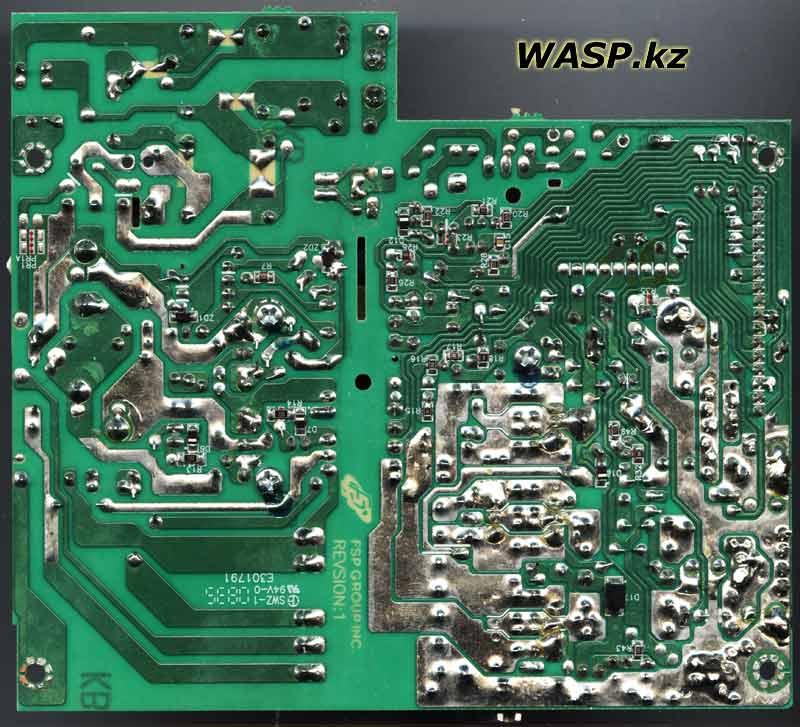 FSP ATX-400PNR плата, схема, обратная сторона