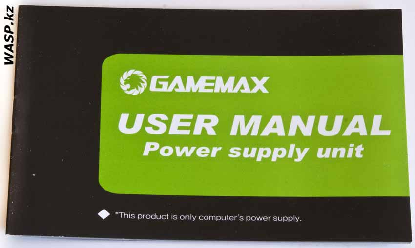 Gamemax GM-800 инструкция, user manual