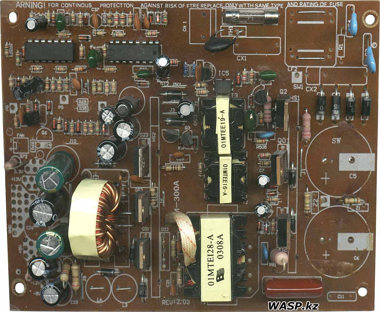 TM-300A Rev: 2.03 INTEX ATX-300W power supply circuit