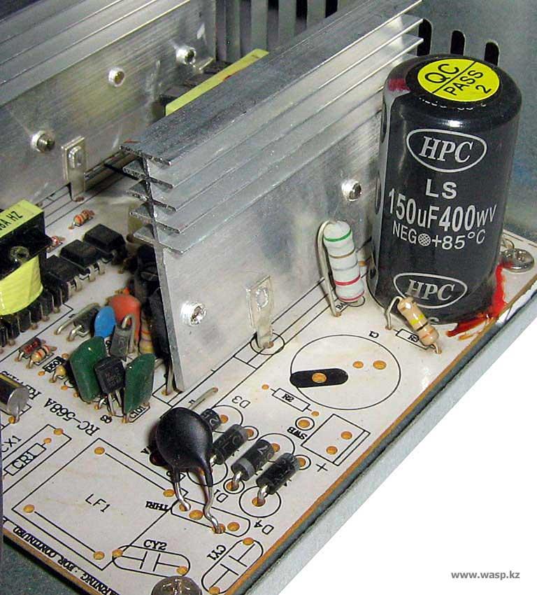 RC-568A Rev:1.2 Intex IT-20F1BC - устройство БП