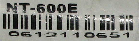 Наклейка на блоке NT-600 E
