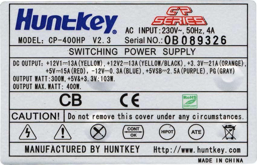 характеристики CP-400HP
