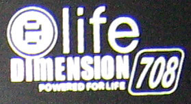 Elife Dimension powered наклейка