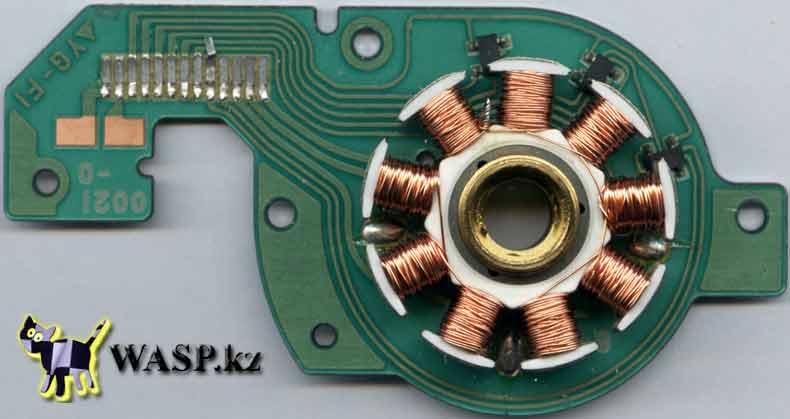 устройство шпиндельного двигателя YG-F1 в CD-ROM