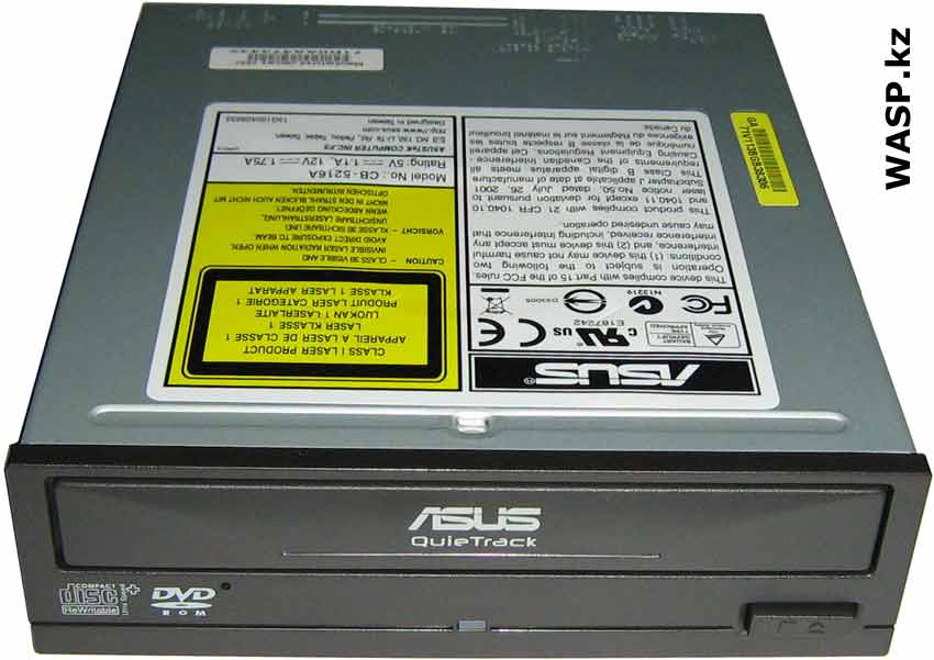 Оптический привод CD-RW/DVD Combo ASUS CB-5216A QuieTrack