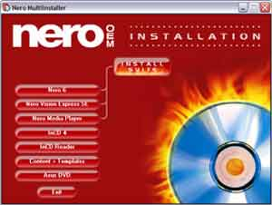 NERO Installation установка программы
