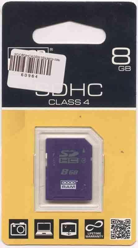 GOOD RAM SDHC 8 Гб карта памяти