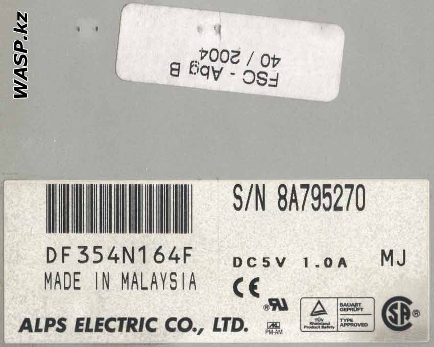 DF354N164F привод Alps Electric Co.,LTD
