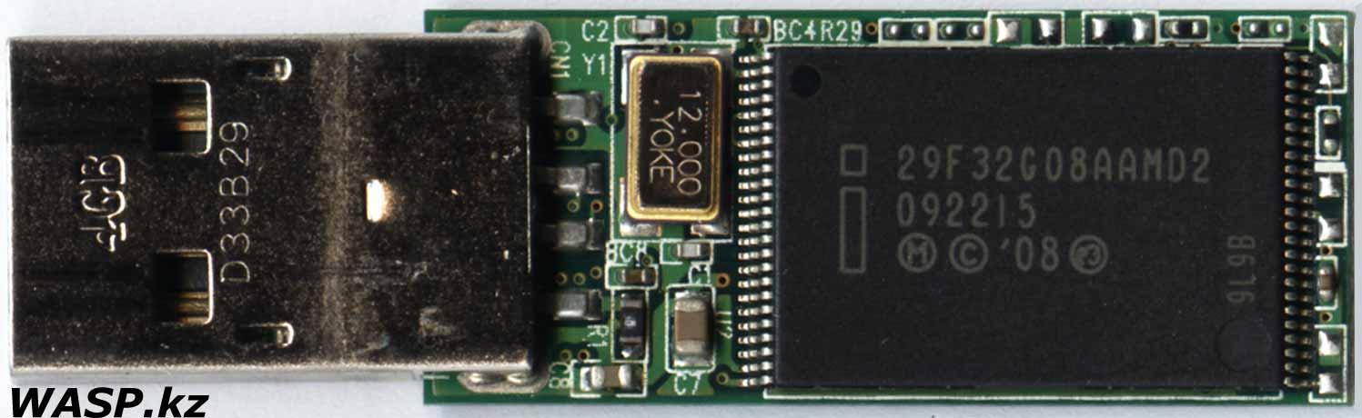 чип 29F32G08AAMD2 во флешке Silicon Power Ultima 150