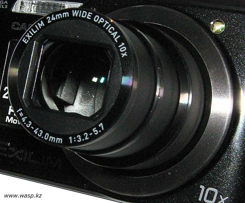 Casio EX-H20G объектив Exilim 24 mm Wide Optical