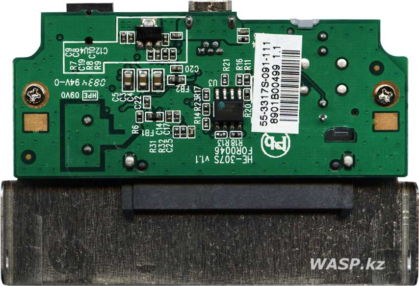 HE-307S v1.1 схема переходника SATA на USB