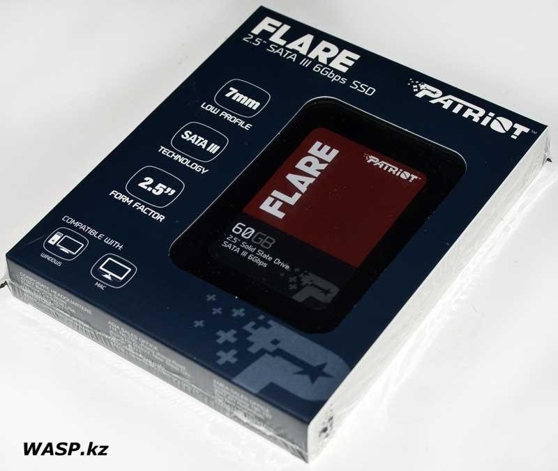 PATRIOT Flare PFL60GS25SSDR обзор SSD