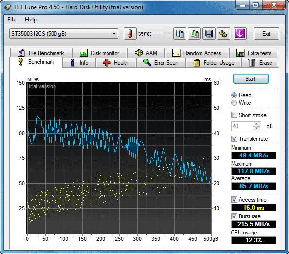 Simmtronics ST3500312CS тестирование
