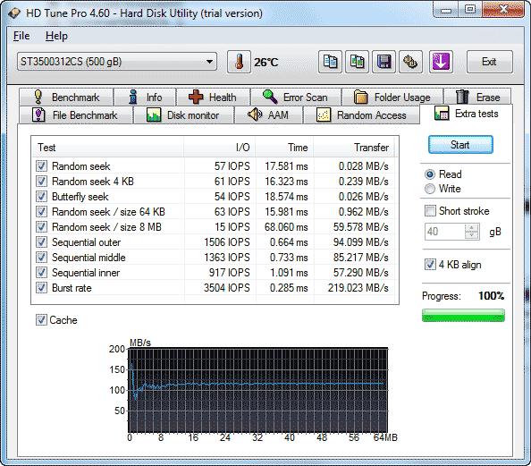 Simmtronics 500 Гб тест жесткого диска