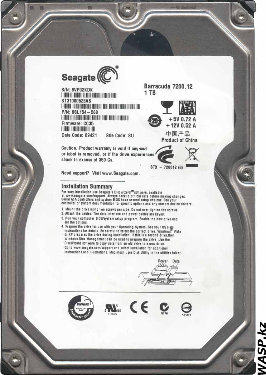 Seagate Barracuda 7200.12 ST31000528AS жесткий диск