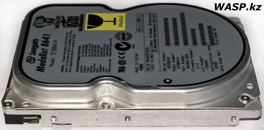 Seagate Medalist ST38641A полное описание IDE HDD