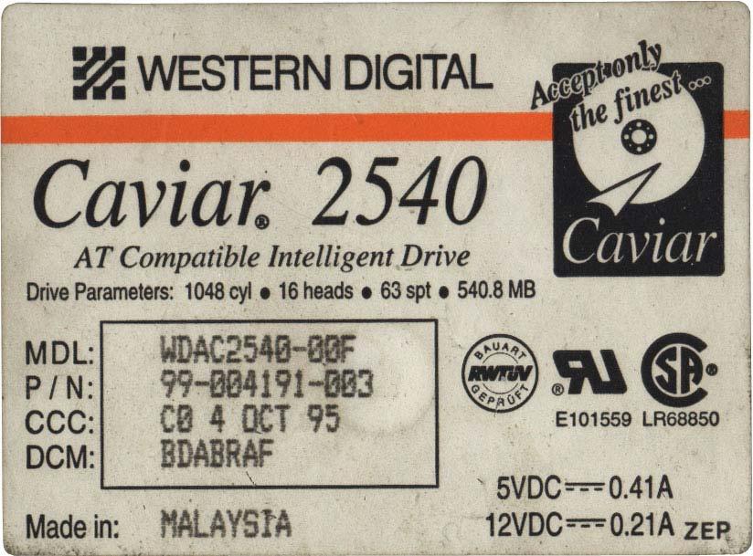 Caviar 2540 BDABRAF E101559