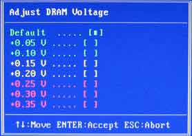 Adjust DRAM Voltage Colorful C.P35 X3