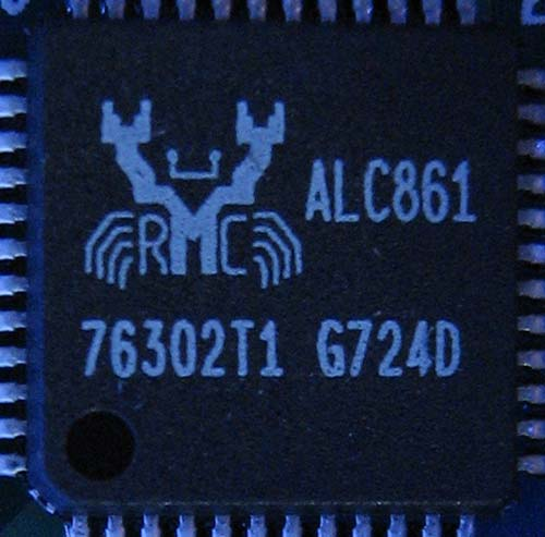 Realtek ALC861 аудиокодек на Colorful C.N7050PV