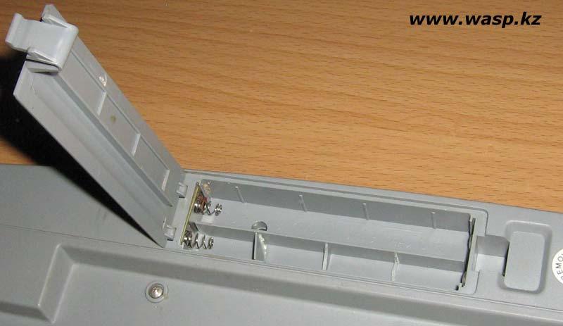 замена батареек в беспроводной клавиатуре