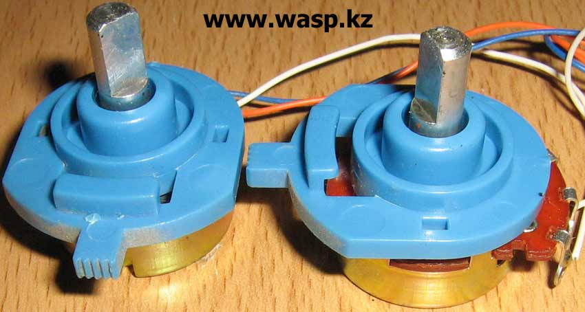 переменные резисторы в джойстике Genius JP-104
