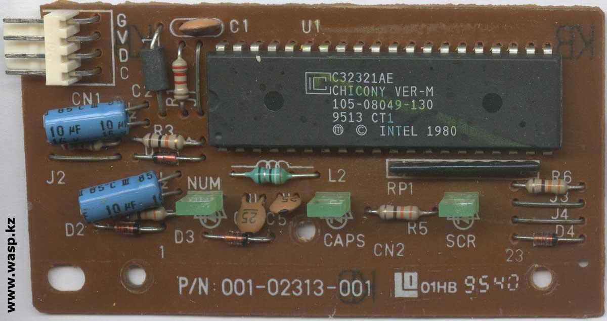 Chicony KB-2323 P/N: 001-02313-001 плата электроники