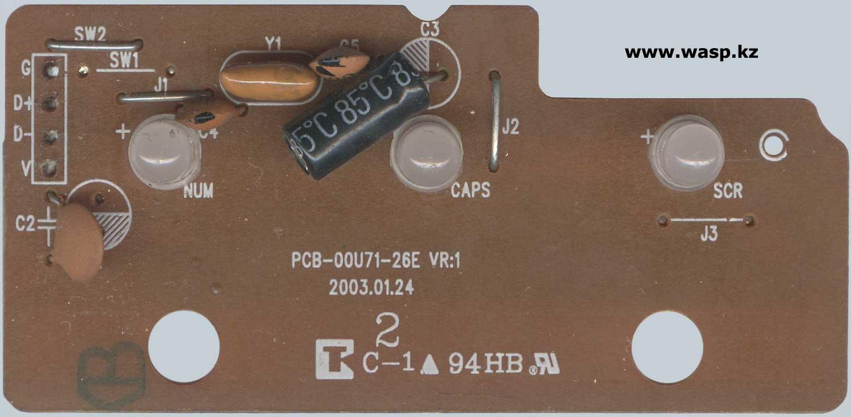 схема Turbo-Spero KX-3801 платы PCB-00U71-26E VR:1