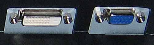 BenQ FP202W разъемы монитора DVI и D-Sub