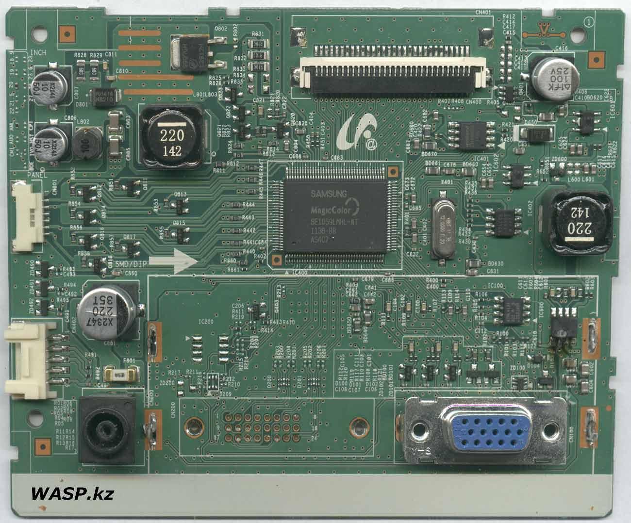 Samsung S20A300N ремонт платы электроники