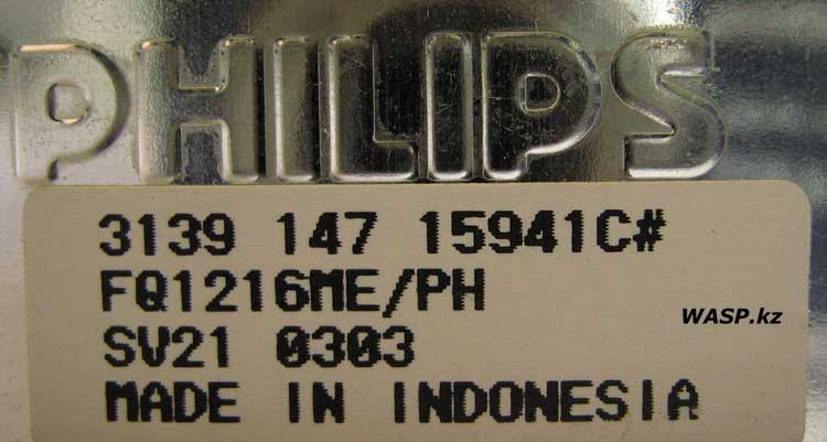 Philips 3139 147 15941C# FQ1216ME/PH SV21 0303