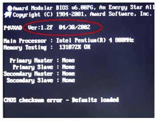 как определить версию BIOS