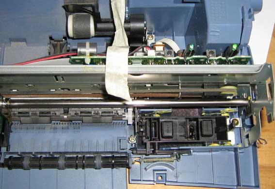 Внутренности принтера Lexmark Z23