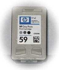 Заправка струйных картриджей HP Gray C9359AN, #59 C9368AN, #100 C9360AN #102