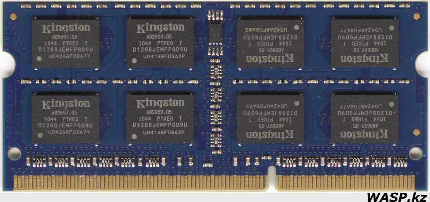 Kingston ACR256X64D3S9 2GB 2Rx8 PC3-10600S-9-10-F0