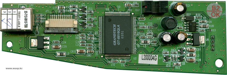 схема сканера GenX RCFA4601EU