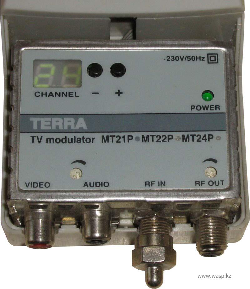 Terra TV modulator MT21P, MT22P, MT24P