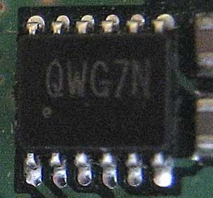 QWG7N - Charge pump interface AAT3157ITP-T1