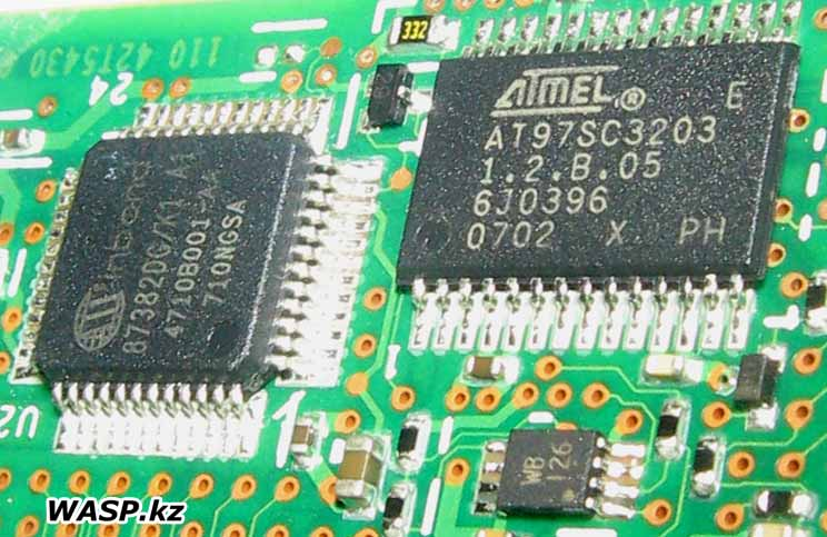 Winbond 87382DG/K1 и ATMEL AT97SC3203 микросхемы