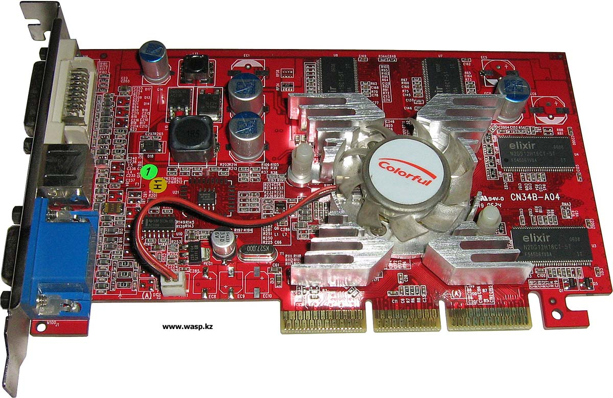 Видеокарта Colorful NVIDIA FX5200 128 MB / 128 bit DDR - AGP 8Х