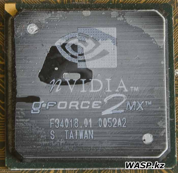 NVIDIA GeForce2 MX F34018.01 0052A2 GPU видеокарты