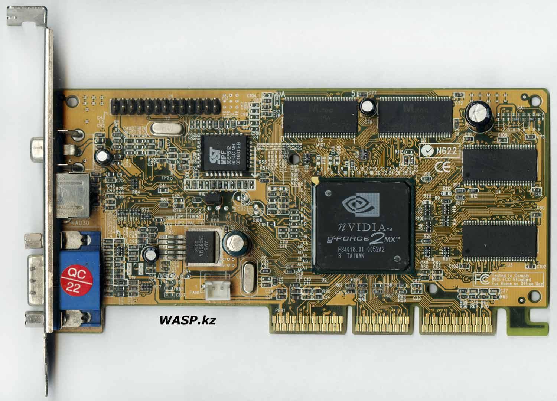 NVIDIA GeForce2 MX AGP видеокарта разгон и экстремальный оверклокинг