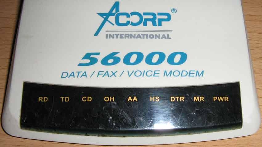 Acorp M-56EMS-2 панель индикаторов работы модема