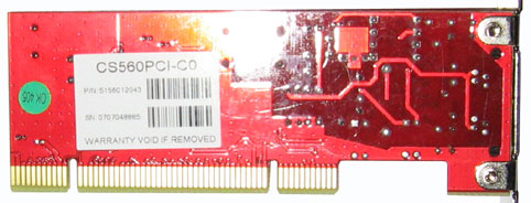 Genx 56K Internal Fax Modem (CS560PCI-C0) - плата