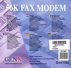Genx PCI modem manual