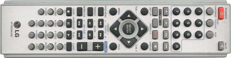 Пульт дистанционного управления LG 6710CDAL03C