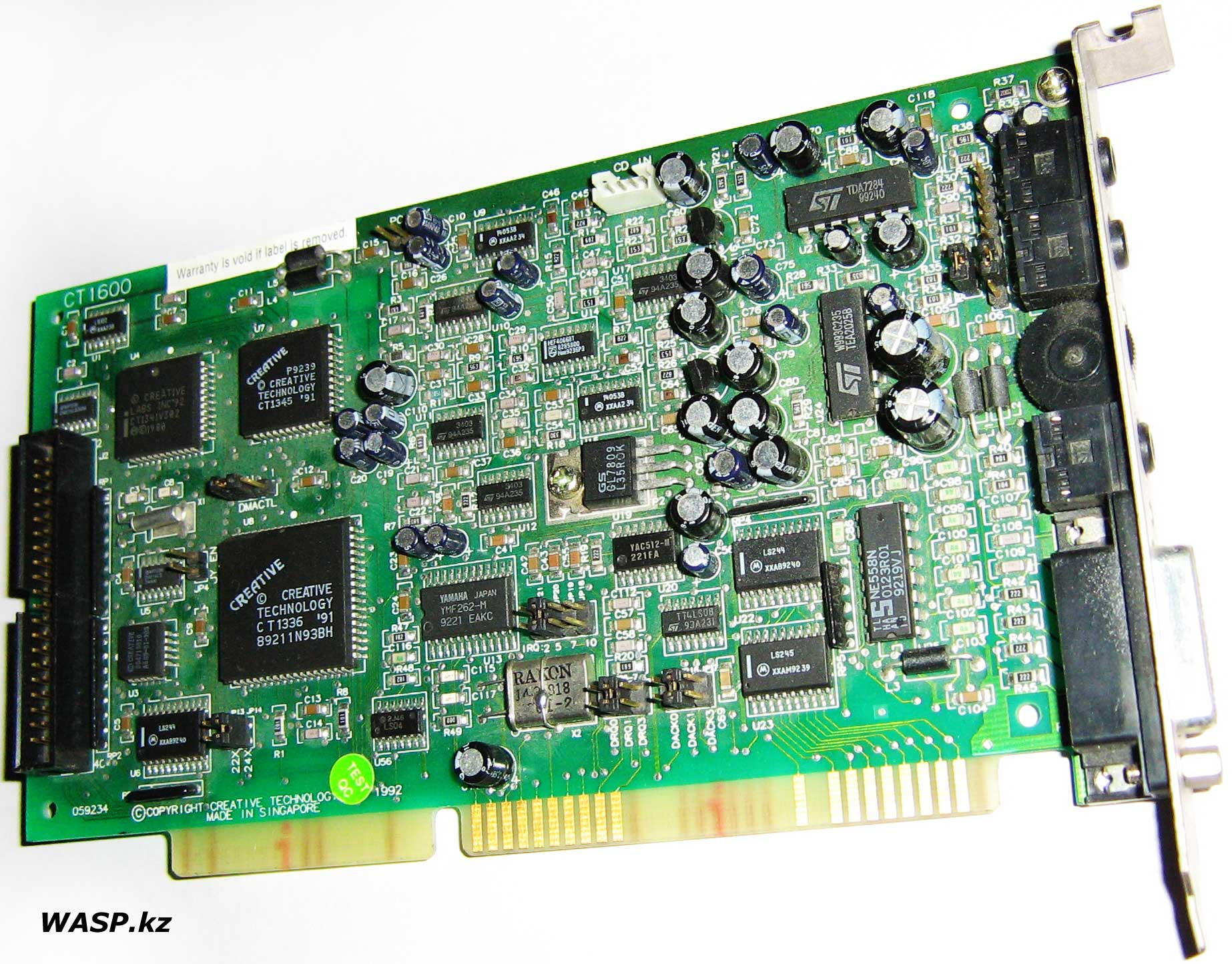 Sound Blaster Pro 2 Creative Labs CT1600 звуковая карта